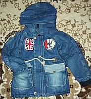 Детская джинсовая парка на меху флисе!, фото 1