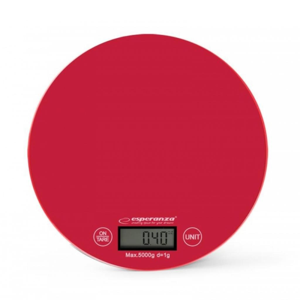 Весы кухонные Esperanza EKS003R Red, электронные весы для кухни, елект