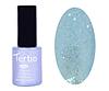 Гель лак Tertio 075, бледно голубой с блестками, 10мл