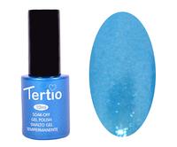 Гель лак Tertio 076, небесно голубой с микроблеском, 10мл