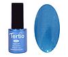 Гель лак Tertio 077, синий с микроблеском, 10мл