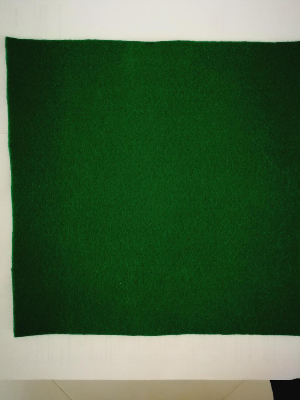 Фетр цвет темно - зеленый 25смХ25см однотонный, цвет зеленый бутылочный