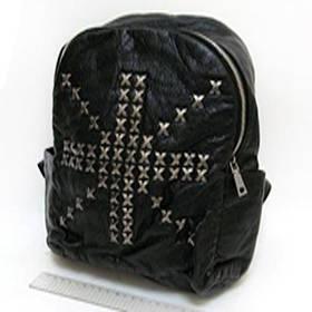 """Рюкзак кож.зам """"Британский крест"""" с заклепками (29*25*14 см.)"""