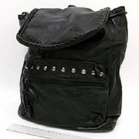 """Рюкзак кож.зам """"Strict"""" с заклепками (30*28*12 см.)"""