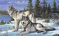 Вышивка бисером Пара волков А1 формат