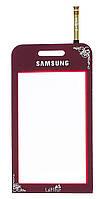 Тачскрин (сенсор) Samsung S5230 Star La Fleur ORIG, red (красный)