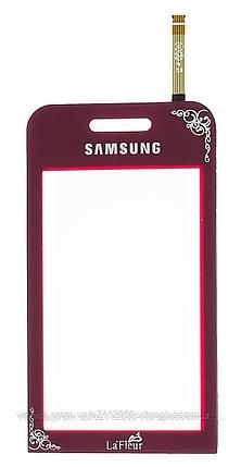 Тачскрин (сенсор) Samsung S5230 Star La Fleur ORIG, red (красный), фото 2