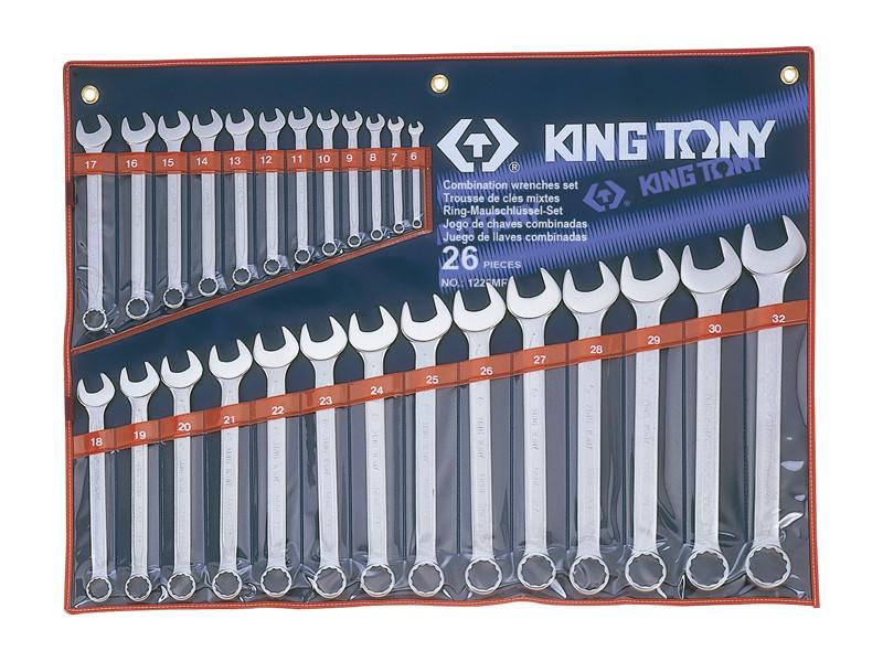 Набор ключей комби 26шт. (6-32мм) KING TONY 1226MR (Тайвань)