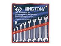 Набор ключей рожковых 8шт. (6-22 мм) KINGTONY 1108MR