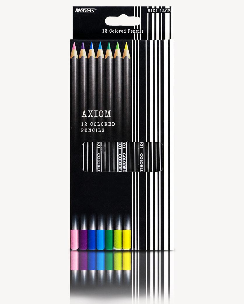"""Набор цветных карандашей 12 цветов """"MARCO"""" Axiom 8101-12CB"""