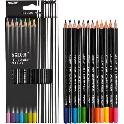 "Набор цветных карандашей 12 цветов ""MARCO"" Axiom 8101-12CB, фото 2"