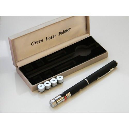 Лазерная указка 5 в1 зеленый Лазер 5 насадок