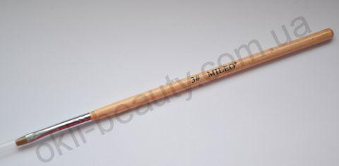 Кисть для геля прямая Mileo №3 (искусственная)