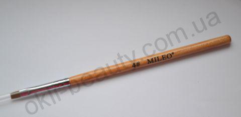 Кисть для геля прямая Mileo №4 (искусственная)