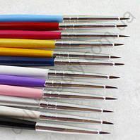 Кисть для дизайна и росписи ногтей (искусственная)