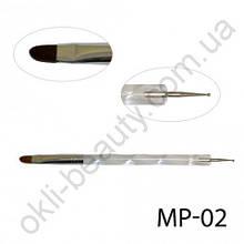Дотс и кисть для дизайна ногтей MP-02 (2 в 1)