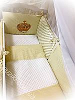 Комплект детского постельного белья 8 в 1 с вышивкой Ангел