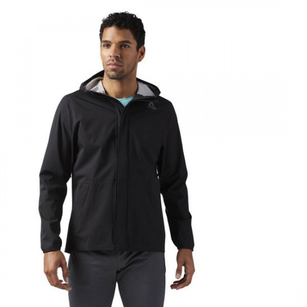 42d93f8d Черная куртка с капюшоном Рибок мужская CD5622: продажа, цена в ...