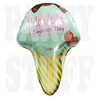 Фольгированный шар Мороженое фисташковое, 63 см