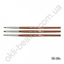 Набор маленьких кистей для геля и акрила SK-08S (3 шт в наборе)