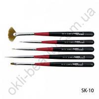 Набор кистей для росписи и дизайна ногтей SK-10 (5 шт в упаковке)