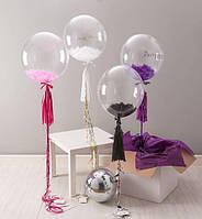 """Воздушный шар Bubbles, без рисунка 16"""" (40*40 см)"""
