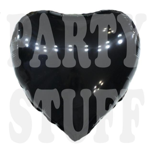Воздушный фольгированный шар Сердце черное