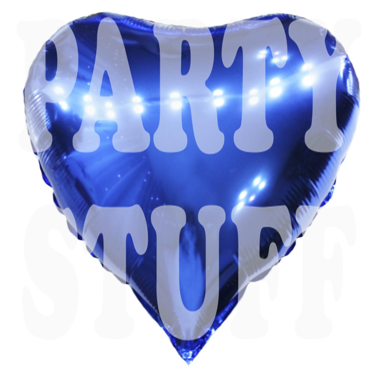 Фольгированный шар Сердце синий, 44*45 см