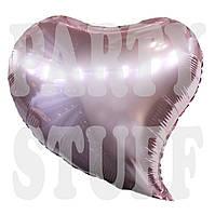 Фольгированный шарик Сердце розовое, 44*47 см
