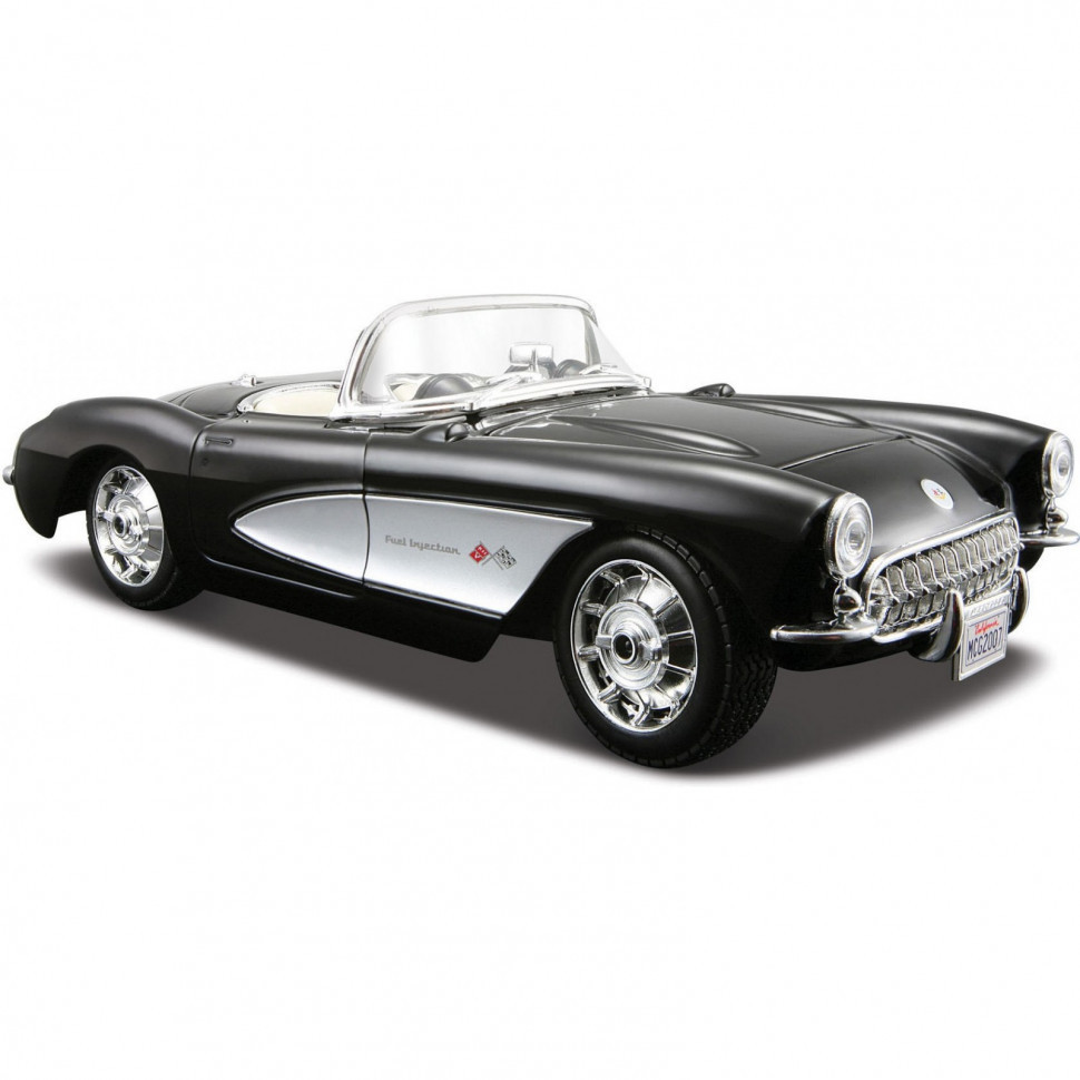Автомодель (1:24) 1957 Chevrolet Corvette 31275 black
