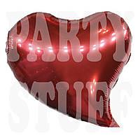 Фольгированный шар Сердце красное, 44*47 см