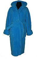 Женский халат с капюшоном под пояс