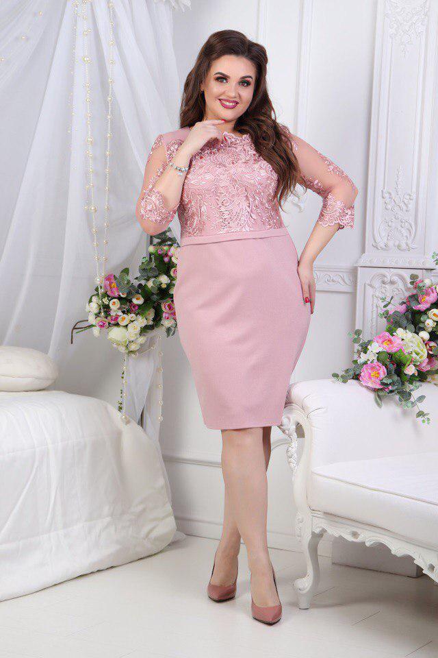 Нарядное женское платье приталенного кроя Размеры: 50,52,54,56