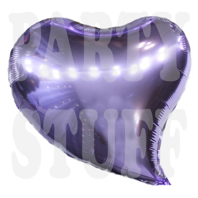 Фольгированный шарСердце фиолетовое