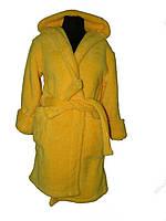 Женский халат желтого цвета