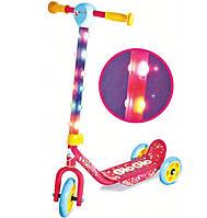Скутер-самокат Hy-Pro Glo-Glo со светом розовый