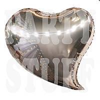 Фольгированный шар Сердце розовое золото, 44 см
