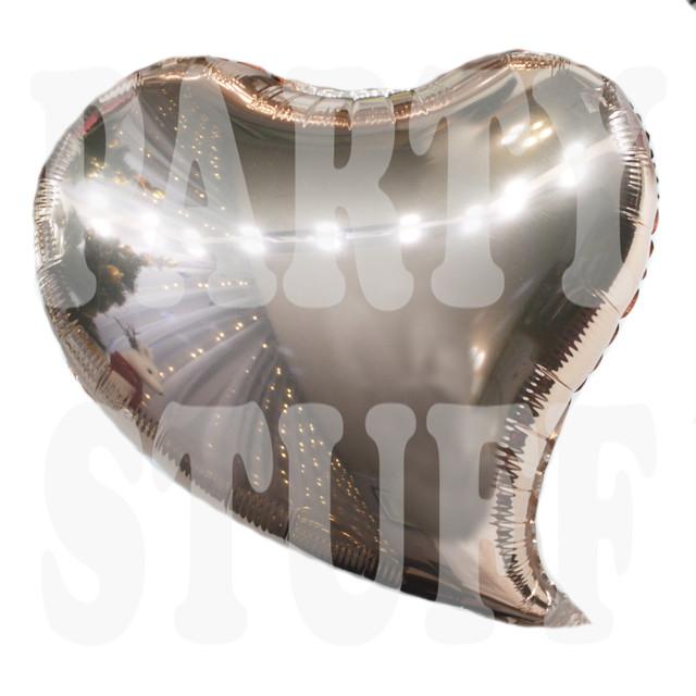 Фольгированный шар Сердце розовое золото