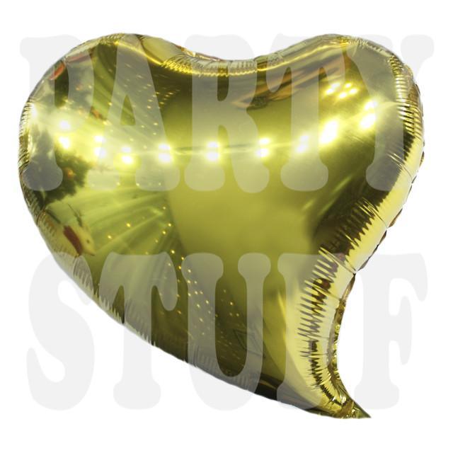 Фольгированный шар Сердце золотое