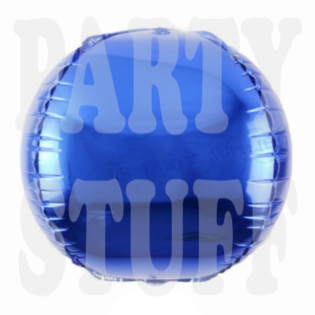 фольгированный шар сфера синяя