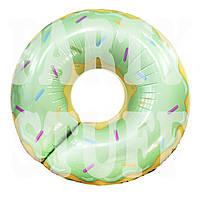 Фольгированный шар Пончик фисташковый, 70 см