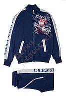 """Спортивный костюм для мальчика """"Надписи-98"""" """"Carrinos"""", синий, 140(116-152), 140 см"""