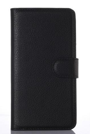 Кожаный чехол книжка для Nokia Lumia 925 черный, фото 2