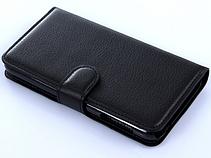 Кожаный чехол книжка для Nokia Lumia 925 черный, фото 3
