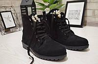 Модные замшевые ботинки