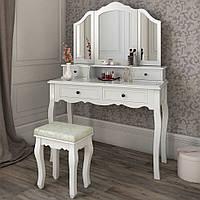 Туалетный столик Fiona с 3-ма зеркалами и табуретом