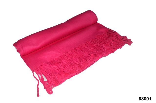 Палантин из кашемира однотонный розовый Фото 4