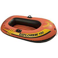 Лодка надувная весельная Explorer 100 Intex (58329)