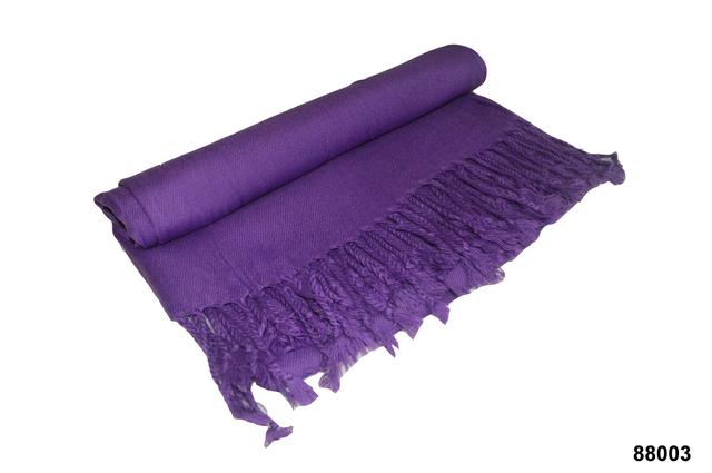 Палантин из кашемира однотонный фиолетовый Фото 4