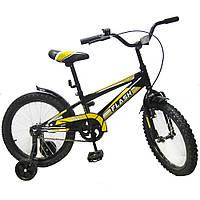 """Велосипед двухколесный Flash 18"""" Черный Baby  Tilly (T-21843)"""